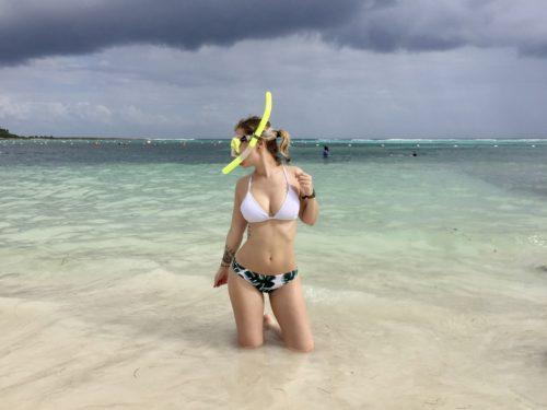 snorkeling Mexique akumal tortue