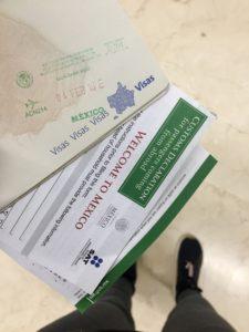 Mexique administratif passeport visa